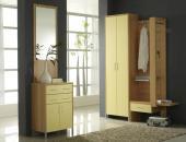 COLOR Vorzimmer mit GADL Buche Gelb Bügelgriff